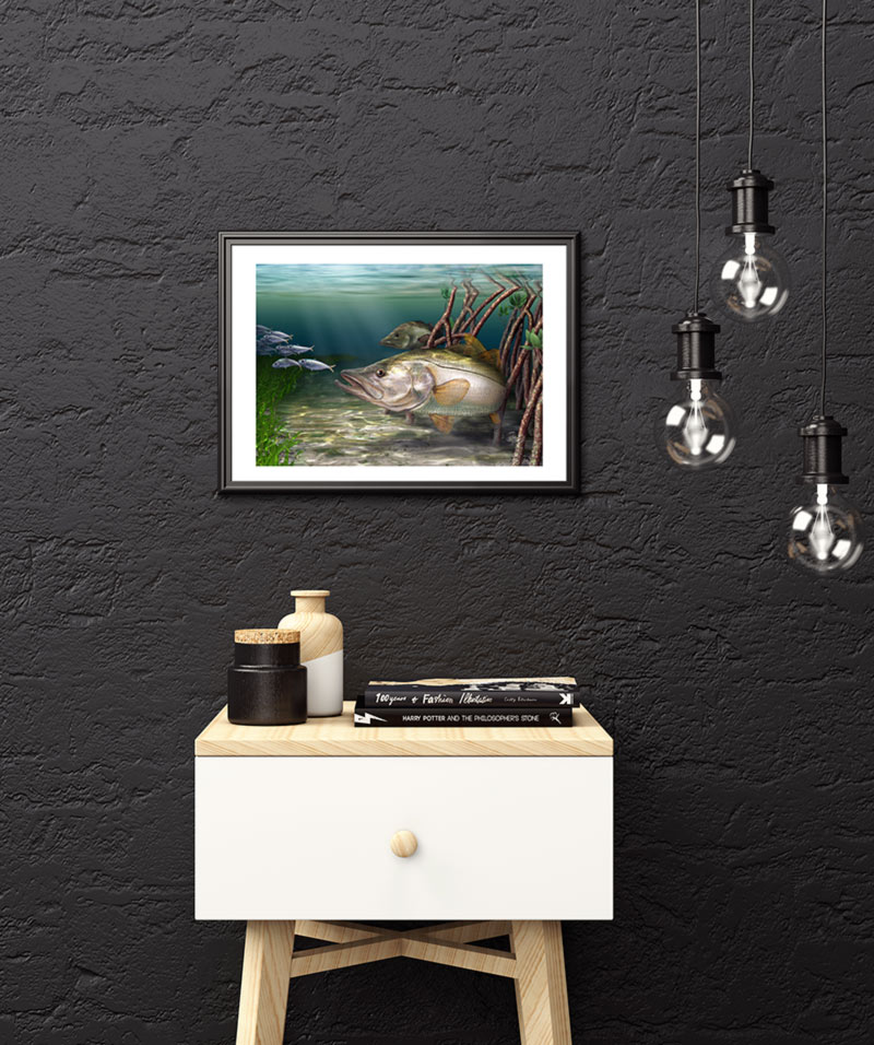 Snook fine art digital painting