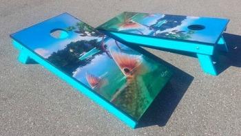 Redfish cornhole board sets
