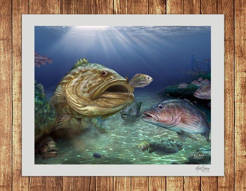 Grouper fine art