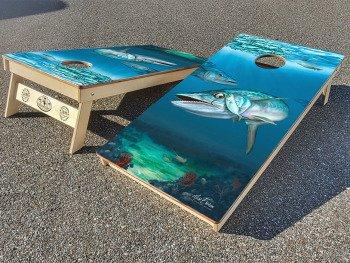 Kingfish cornhole board set