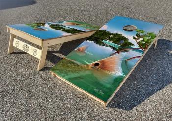 Redfish cornhole board set