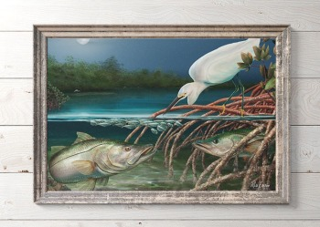 Snook fishing art gift for snook fishermen