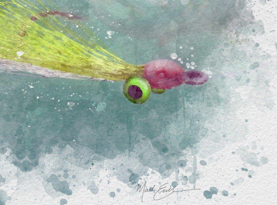 Clouser deep minnow watercolor