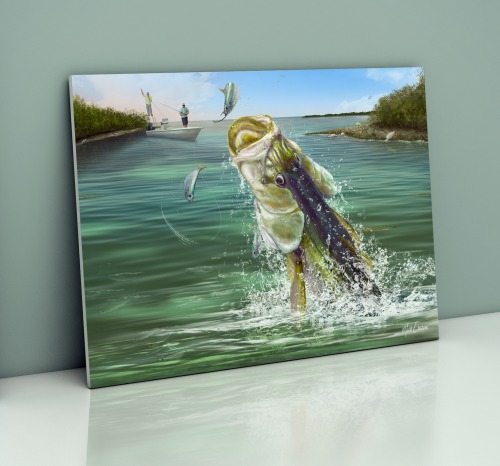 Snook fishing wall art gifts