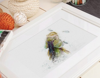 Snook painting watercolor painting in frame