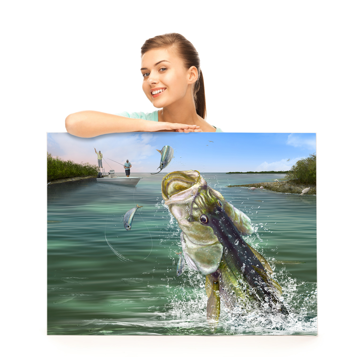 Snook fishing print gift for snook fishing