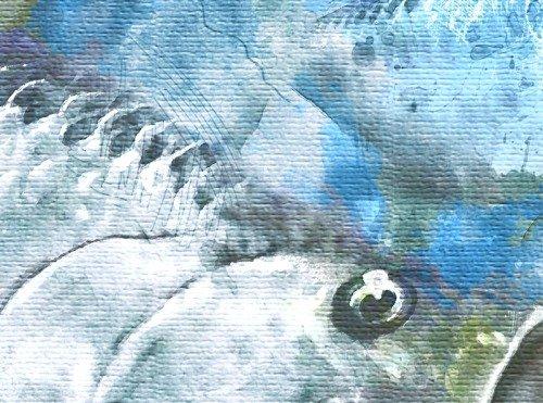 Watercolor tarpon schooling print art gift for fisherman